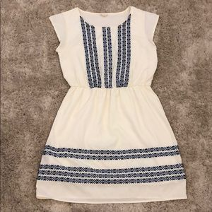Maison Jules Embroidered Cap Sleeve Dress